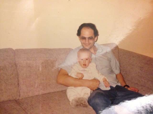 Dad and I- obviously, this was the 80's.  And interior decorators, my parents were not.